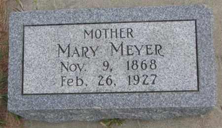 MEYER, MARY - Cedar County, Nebraska | MARY MEYER - Nebraska Gravestone Photos
