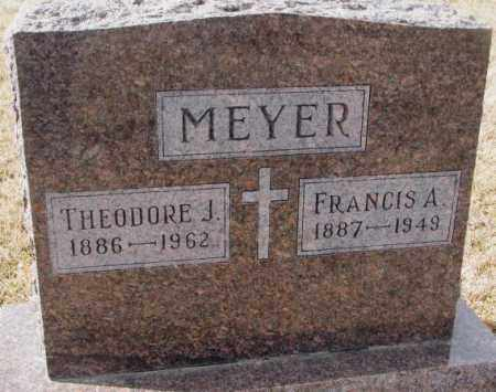 MEYER, THEODORE J. - Cedar County, Nebraska | THEODORE J. MEYER - Nebraska Gravestone Photos