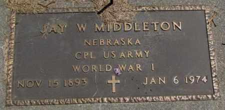 MIDDLETON, JAY W. (WW I) - Cedar County, Nebraska | JAY W. (WW I) MIDDLETON - Nebraska Gravestone Photos
