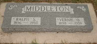 MIDDLETON, RALPH S - Cedar County, Nebraska | RALPH S MIDDLETON - Nebraska Gravestone Photos