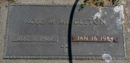 MIDDLETON, ROSE M. - Cedar County, Nebraska   ROSE M. MIDDLETON - Nebraska Gravestone Photos