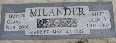 MILANDER, GLEN A. - Cedar County, Nebraska | GLEN A. MILANDER - Nebraska Gravestone Photos
