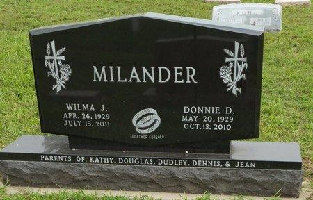 MILANDER, DONNIE D - Cedar County, Nebraska   DONNIE D MILANDER - Nebraska Gravestone Photos
