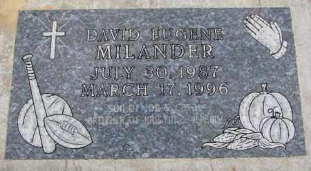 MILANDER, DAVID EUGENE - Cedar County, Nebraska | DAVID EUGENE MILANDER - Nebraska Gravestone Photos