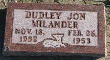 MILANDER, DUDLEY JON - Cedar County, Nebraska | DUDLEY JON MILANDER - Nebraska Gravestone Photos