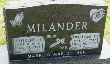 MILANDER, FLORENE J. - Cedar County, Nebraska | FLORENE J. MILANDER - Nebraska Gravestone Photos