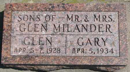 MILANDER, GARY - Cedar County, Nebraska   GARY MILANDER - Nebraska Gravestone Photos