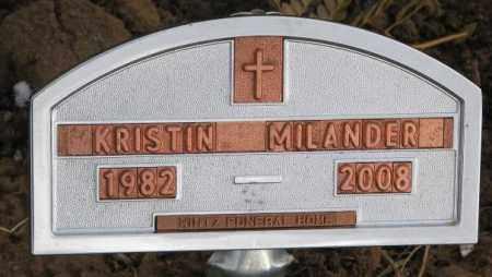 MILANDER, KRISTIN - Cedar County, Nebraska | KRISTIN MILANDER - Nebraska Gravestone Photos