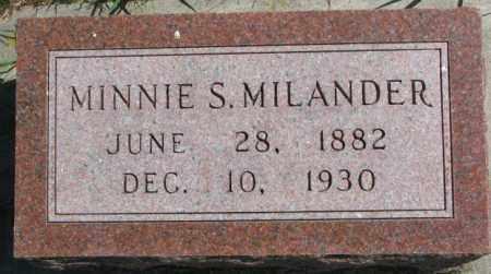 MILANDER, MINNIE S. - Cedar County, Nebraska | MINNIE S. MILANDER - Nebraska Gravestone Photos