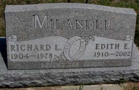 MILANDER, RICHARD L. - Cedar County, Nebraska   RICHARD L. MILANDER - Nebraska Gravestone Photos