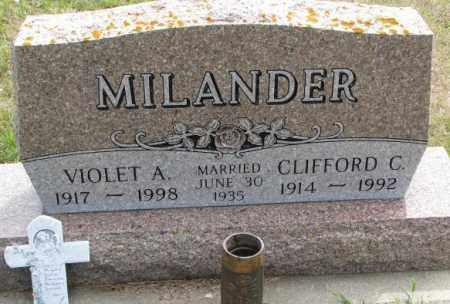 MILANDER, CLIFFORD C. - Cedar County, Nebraska | CLIFFORD C. MILANDER - Nebraska Gravestone Photos