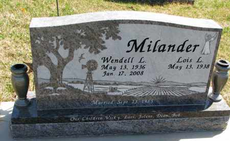 MILANDER, LOIS L. - Cedar County, Nebraska | LOIS L. MILANDER - Nebraska Gravestone Photos