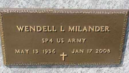 MILANDER, WENDELL L. (MILITARY) - Cedar County, Nebraska | WENDELL L. (MILITARY) MILANDER - Nebraska Gravestone Photos