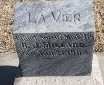 MILLARD, LA VIER - Cedar County, Nebraska   LA VIER MILLARD - Nebraska Gravestone Photos