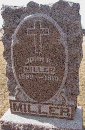 MILLER, JOHN R. - Cedar County, Nebraska   JOHN R. MILLER - Nebraska Gravestone Photos