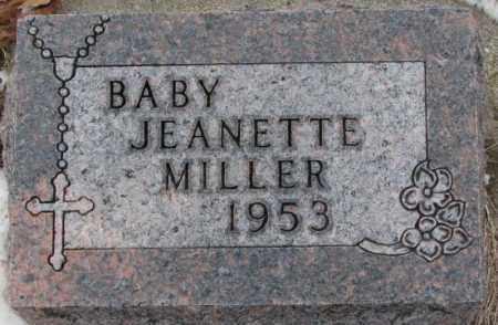 MILLER, JEANETTE - Cedar County, Nebraska | JEANETTE MILLER - Nebraska Gravestone Photos