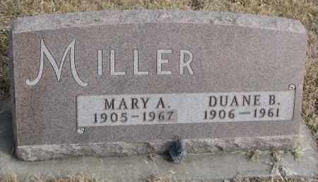 MILLER, DUANE B. - Cedar County, Nebraska   DUANE B. MILLER - Nebraska Gravestone Photos