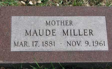 MILLER, MAUDE - Cedar County, Nebraska | MAUDE MILLER - Nebraska Gravestone Photos