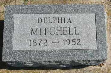 MITCHELL, DELPHIA - Cedar County, Nebraska | DELPHIA MITCHELL - Nebraska Gravestone Photos