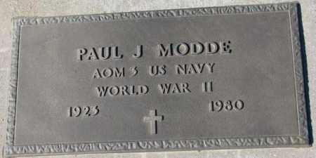 MODDE, PAUL J. (WW II) - Cedar County, Nebraska | PAUL J. (WW II) MODDE - Nebraska Gravestone Photos