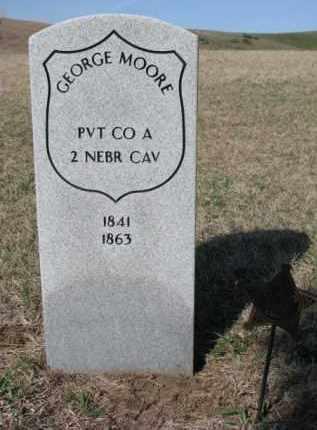MOORE, GEORGE - Cedar County, Nebraska   GEORGE MOORE - Nebraska Gravestone Photos