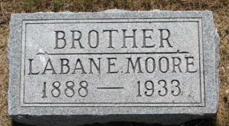 MOORE, LABAN E. - Cedar County, Nebraska | LABAN E. MOORE - Nebraska Gravestone Photos