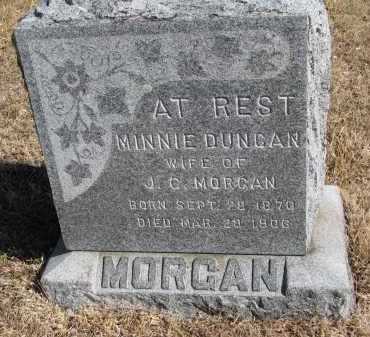 DUNCAN MORGAN, MINNIE - Cedar County, Nebraska | MINNIE DUNCAN MORGAN - Nebraska Gravestone Photos