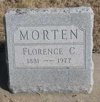 MORTEN, FLORENCE C. - Cedar County, Nebraska | FLORENCE C. MORTEN - Nebraska Gravestone Photos