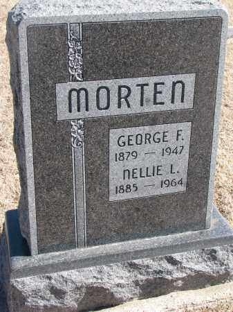 MORTEN, GEORGE F. - Cedar County, Nebraska | GEORGE F. MORTEN - Nebraska Gravestone Photos