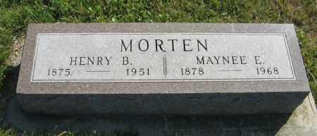 MORTEN, MAYNEE E. - Cedar County, Nebraska | MAYNEE E. MORTEN - Nebraska Gravestone Photos