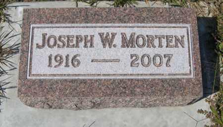 MORTEN, JOSEPH W. - Cedar County, Nebraska   JOSEPH W. MORTEN - Nebraska Gravestone Photos