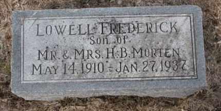 MORTEN, LOWELL FREDERICK - Cedar County, Nebraska | LOWELL FREDERICK MORTEN - Nebraska Gravestone Photos