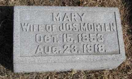 MORTEN, MARY - Cedar County, Nebraska | MARY MORTEN - Nebraska Gravestone Photos