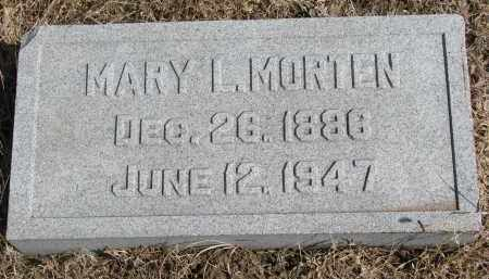 MORTEN, MARY L. - Cedar County, Nebraska | MARY L. MORTEN - Nebraska Gravestone Photos