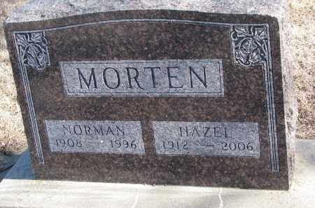 MORTEN, NORMAN - Cedar County, Nebraska | NORMAN MORTEN - Nebraska Gravestone Photos