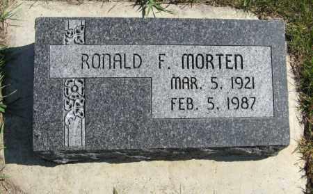 MORTEN, RONALD F. - Cedar County, Nebraska   RONALD F. MORTEN - Nebraska Gravestone Photos