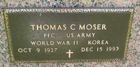 MOSER, THOMAS C. (MILITARY) - Cedar County, Nebraska | THOMAS C. (MILITARY) MOSER - Nebraska Gravestone Photos