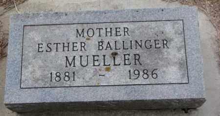 BALLINGER MUELLER, ESTHER - Cedar County, Nebraska | ESTHER BALLINGER MUELLER - Nebraska Gravestone Photos