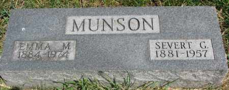 MUNSON, SEVERT G. - Cedar County, Nebraska | SEVERT G. MUNSON - Nebraska Gravestone Photos