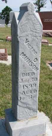MUNSON, VICTOR D. - Cedar County, Nebraska | VICTOR D. MUNSON - Nebraska Gravestone Photos