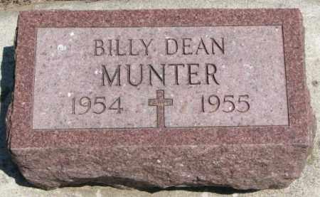MUNTER, BILLY DEAN - Cedar County, Nebraska | BILLY DEAN MUNTER - Nebraska Gravestone Photos