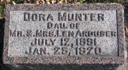 MUNTER, DORA - Cedar County, Nebraska | DORA MUNTER - Nebraska Gravestone Photos
