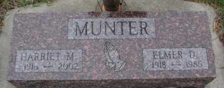 MUNTER, ELMER D. - Cedar County, Nebraska | ELMER D. MUNTER - Nebraska Gravestone Photos