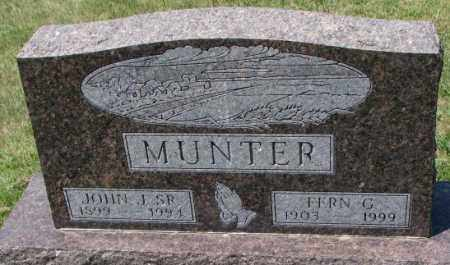 MUNTER, JOHN J. SR. - Cedar County, Nebraska | JOHN J. SR. MUNTER - Nebraska Gravestone Photos