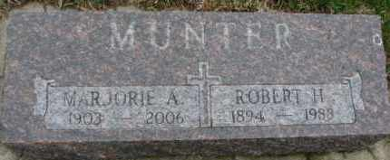 MUNTER, MARJORIE A. - Cedar County, Nebraska | MARJORIE A. MUNTER - Nebraska Gravestone Photos