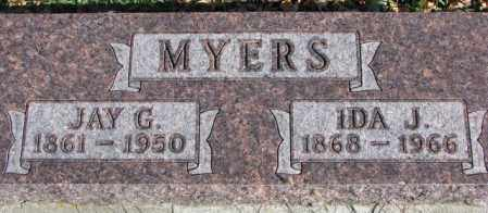 MYERS, JAY G. - Cedar County, Nebraska   JAY G. MYERS - Nebraska Gravestone Photos