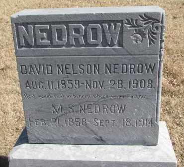 NEDROW, DAVID NELSON - Cedar County, Nebraska | DAVID NELSON NEDROW - Nebraska Gravestone Photos