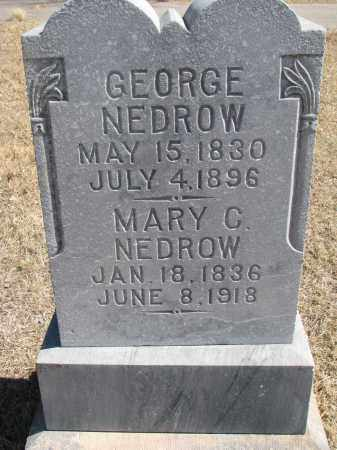 NEDROW, GEORGE - Cedar County, Nebraska   GEORGE NEDROW - Nebraska Gravestone Photos