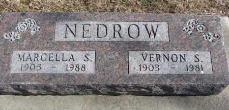 NEDROW, VERNON S. - Cedar County, Nebraska | VERNON S. NEDROW - Nebraska Gravestone Photos