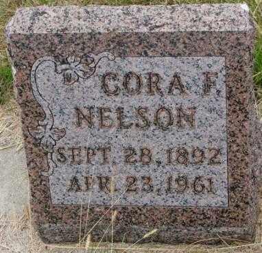 NELSON, CORA F. - Cedar County, Nebraska | CORA F. NELSON - Nebraska Gravestone Photos